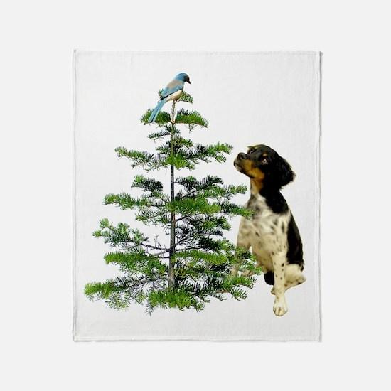 Bird Dog Tree Throw Blanket