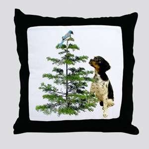 Bird Dog Tree Throw Pillow