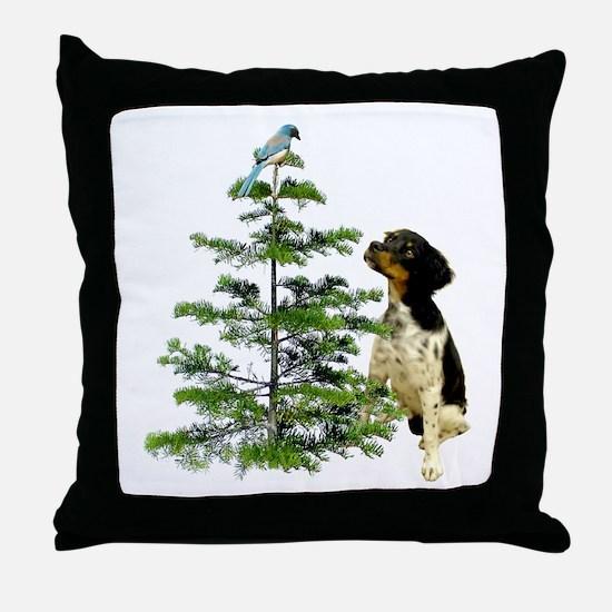 Bird Dog Tree Throw Pillow