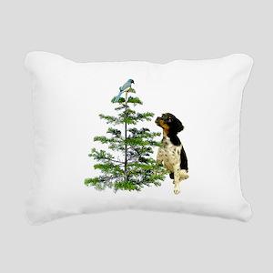 Bird Dog Tree Rectangular Canvas Pillow