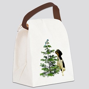 Bird Dog Tree Canvas Lunch Bag