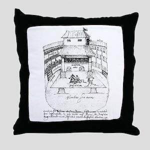 De Witt Drawing Throw Pillow