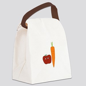 Apple-Carrot Duo Canvas Lunch Bag