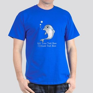 Cute Blue Dolphin Dark T-Shirt