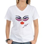 Vogue Fashion Girl Women's V-Neck T-Shirt