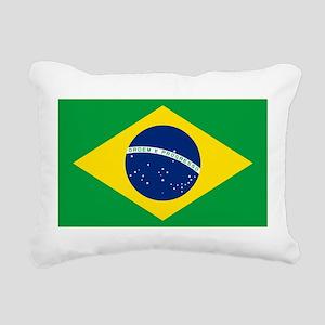 Flag of Brazil Rectangular Canvas Pillow