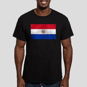 Flag of Paraguay Men's Fitted T-Shirt (dark)