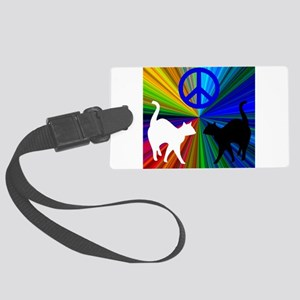 PEACE CATS Large Luggage Tag