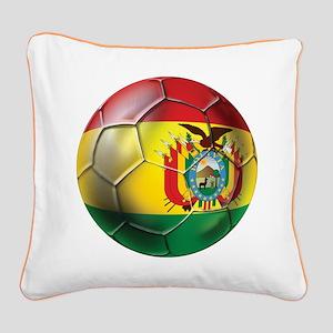 Bolivia Futbol Square Canvas Pillow
