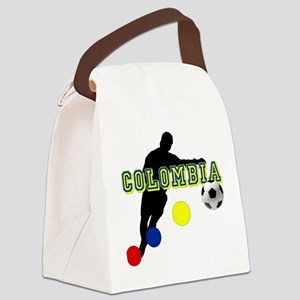 Colombia Futbol Player Canvas Lunch Bag