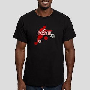 Peru Football Player Men's Fitted T-Shirt (dark)