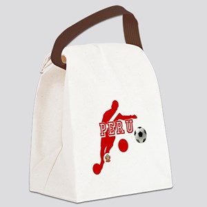 Peru Football Player Canvas Lunch Bag