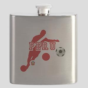 Peru Football Player Flask