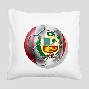 Peru Futbol Square Canvas Pillow