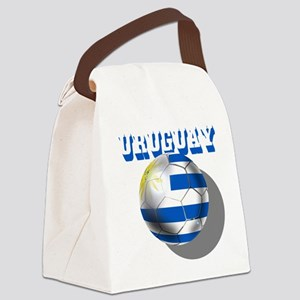 Uruguay Soccer Ball Canvas Lunch Bag