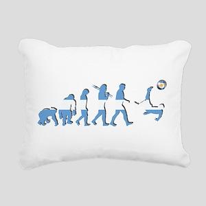 Argentinia Soccer Evolut Rectangular Canvas Pillow