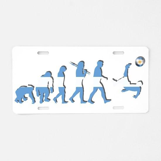 Argentinia Soccer Evolution Aluminum License Plate