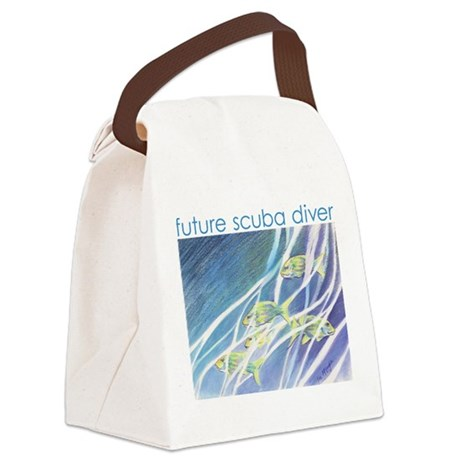whimsical reef fish Canvas Lunch Bag