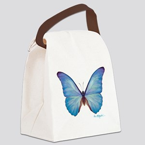 gorgeous blue morpho butterfly Canvas Lunch Bag