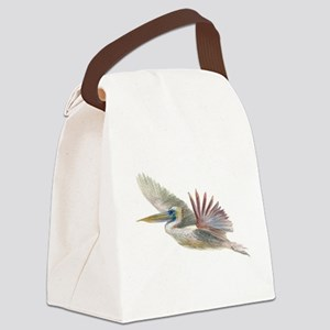 pelican flying Canvas Lunch Bag