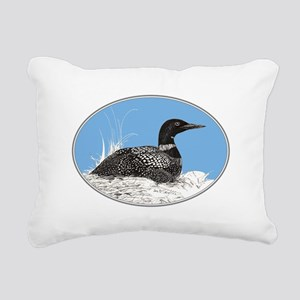 Loon Rectangular Canvas Pillow