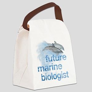 future marine biologist Canvas Lunch Bag