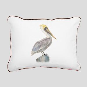 brown pelican Rectangular Canvas Pillow