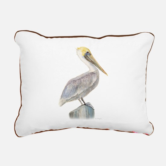 brown pelican Rectangular Canvas Pillow