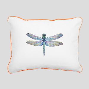 night dragonfly Rectangular Canvas Pillow