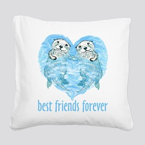 best friends forever Square Canvas Pillow