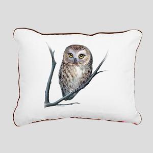 saw-whet owl light background Rectangular Canvas P