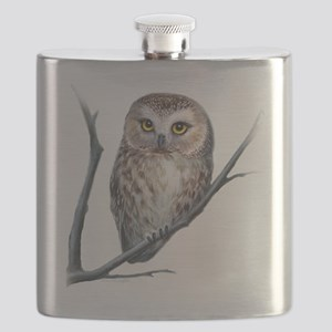 saw-whet owl light background Flask
