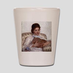 Mary Cassatt The Reader Shot Glass
