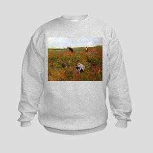 Poppies In The Field Kids Sweatshirt