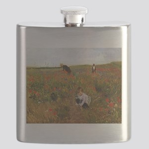 Poppies In The Field Flask