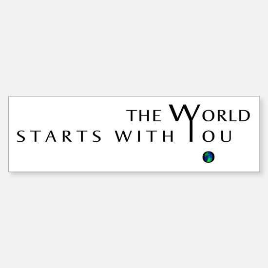 The World Starts With You Sticker (Bumper)