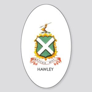 Hawley Coat of Arms Sticker (Oval)