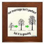 The Growing Marriage Framed Tile