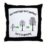 The Growing Marriage Throw Pillow