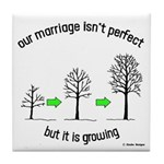 The Growing Marriage Tile Coaster