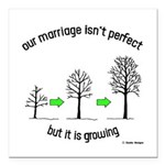 "The Growing Marriage Square Car Magnet 3"" x 3"