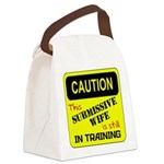 In Training RED Canvas Lunch Bag