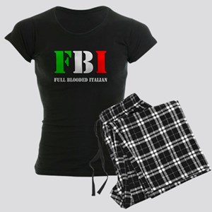 FBI Italian Shirt Women's Dark Pajamas