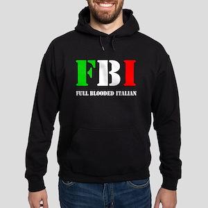 FBI Italian Shirt Hoodie (dark)