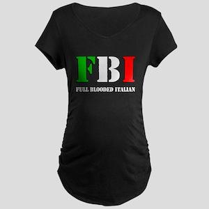 FBI Italian Shirt Maternity Dark T-Shirt