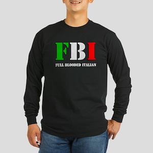 FBI Italian Shirt Long Sleeve Dark T-Shirt