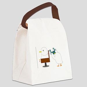 Haircut Canvas Lunch Bag