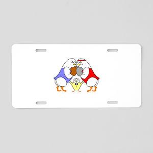 Boxing Aluminum License Plate