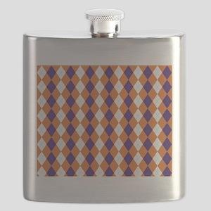 Orange and Purple Argyle Flask