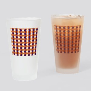 Orange and Purple Argyle Drinking Glass